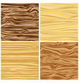 set of four abstract wood texture in flat design vector image vector image