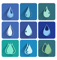 Set of icons with water drops vector image