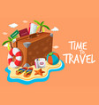 set of travel object template vector image