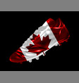 soccer football boot with the flag of canada vector image
