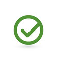tick sign element green checkmark icon isolated vector image vector image