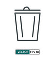 trash flat icon line style isolated on white eps vector image vector image