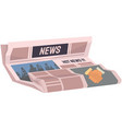 vintage newspaper of business news articles vector image