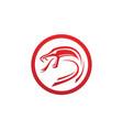 viper snake logo design element danger snake icon vector image vector image
