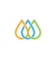 water drop logo template vector image