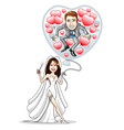 wedding balloon vector image vector image