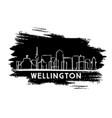 wellington skyline silhouette hand drawn sketch vector image vector image