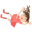 falling girl rabbit hole vector image