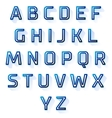 blue font design set vector image