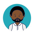 young african man avatar character vector image