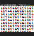 all official national flags of the world vector image vector image