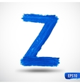 Alphabet Letter Z Watercolor Alphabet vector image vector image