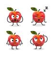 apple cartoon character vector image vector image