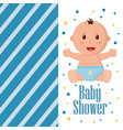 baby shower boy and girl vector image
