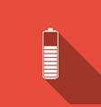 battery charge level indicator icon isolated vector image vector image