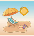 beach with chair travel vacations scene vector image vector image