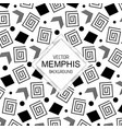 black white memphis backgrounds vector image