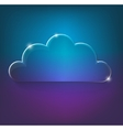 bright eco glossy glass cloud icon vector image vector image