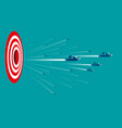 business people with target sign vector image