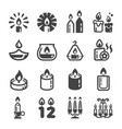 candle icon set vector image