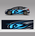 car decal graphic abstract racing designs for vector image