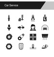 car service icons design for presentation graphic vector image
