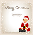 christmas card funny postcard with santa vector image