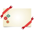 Christmas vintage greeting card vector | Price: 1 Credit (USD $1)