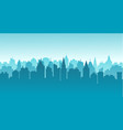 city silhouette land scape city landscape vector image