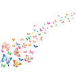 colorful butterflies background vector image vector image