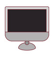 colorful graphic of lcd monitor with dark red line vector image vector image