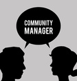 Community Manager design vector image