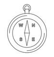 compass line black icon vector image vector image