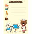 cute menu cafe cartoon vector image vector image