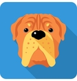 dog French Mastiff icon flat design vector image vector image
