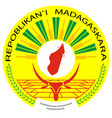 emblem of the republic madagascar on a white vector image
