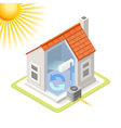 Energy Chain 02 Building Isometric vector image