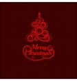 Fir tree christmas red ornament vector image vector image