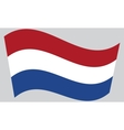 Flag of the Netherlands waving vector image
