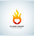 flame heart abstract sign symbol or logo vector image vector image