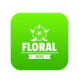 flower wedding icon green vector image