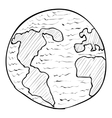 Globe icon hand drawn style vector image