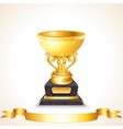 Golden Cup vector image vector image