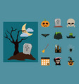 happy halloween scary trick or treat celebration vector image vector image