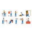 home repair workers house maintenance vector image