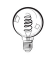 incandescent light bulb sketch vector image