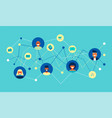 internet social network group concept flat design vector image vector image