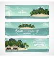 Island horizontal banners vector image vector image