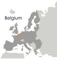 isolated belgium map design vector image