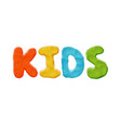 kids logo template vector image